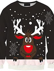 Sweatshirt Homme Décontracté / Quotidien Actif Couleur Pleine énorme Col Arrondi Micro-élastique Polyester Manches Longues Printemps