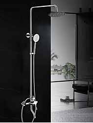 Contemporary Art Deco/Retro Modern Shower System Rain Shower Widespread Handshower Included with  Ceramic Valve Shower Faucets