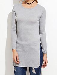 2016 nouveau style européen et américain fashion côté décontracté chemise de fond longue section de t-shirt à manches longues lâches femme