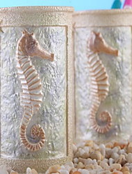 1 Pcs Bathroom Gadget Hippocampus Resin /Country
