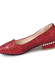 Women's Flats Summer Fall Club Shoes Synthetic Office & Career Party & Evening Dress Flat Heel Sequin