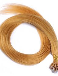 Color #144 New Arrival Nano Tip Hair Extensions 10A Peruvian Remy Human Hair Keratin Fusion Hair Extensions Nano Tip Hair 100 Strands 1g/Strand
