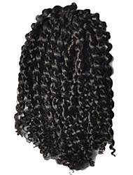 1 Pack 8inch Natural Black 2# Curly Afro Kinky Mali Bob Braids Hair Extensions Kanekalon Hair Braids 30g (5-6pack/head)