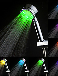 Contemporary Hand Shower Chrome Feature for  Rainfall Eco-friendly LED , Shower Head