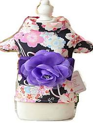 Собаки смокинг Одежда для собак Лето Цветы Милые Свадьба Косплей День рождения Новый год Красный Розовый Черный