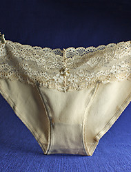 Women's Lace Solid Shaping Panties Cotton
