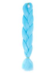 1 Pack Sky Blue Jumbo Braids Hair Extensions Kanekalon Hair Braids Crochet 24inch Fiber 100g