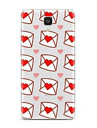 Pour Transparente Motif Coque Coque Arrière Coque Cœur Flexible PUT pour XiaomiXiaomi Mi 5 Xiaomi Mi 4 Xiaomi Mi 5s Xiaomi Mi 5s Plus