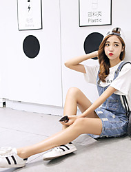 Sign Korean Institute of wind wild frayed denim strap dress denim skirt Slim