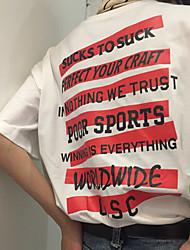 signe marque marée anglais américain slogan t-shirt en coton rayé rouge hommes tee planche à roulettes et les femmes