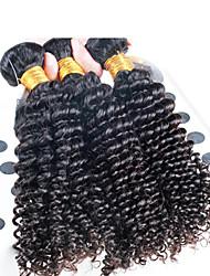 3 шт / много бразильских глубокая волосы вьющиеся волнистые, высокое качество бразильского человеческих волос
