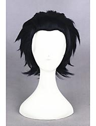 короткие черные&синяя серафим конца Guren Ichinose синтетические 12inch аниме косплей wigcs-245d