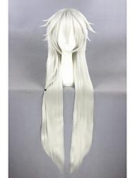 Long direct touken ranbu en ligne kogitsunemaru argenté 44inch anime cosplay wigcs-231o