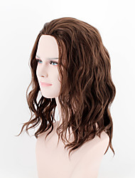 Japan and South Korea new dark brown short section of the side of the natural wave of high temperature wire wig