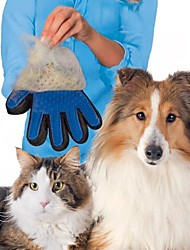 1PCS Silicone True Touch Glove Gentle Efficient Pet Grooming Dogs Bath Pet Supplies Shedding Hairs Stick Making Pets Hair Cleanup