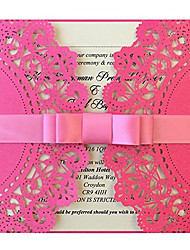 Hot Pink Wedding Invitation Girls Birthday Invitation Pink Invitation Cards - Set of 50