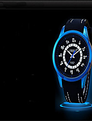 Masculino Relógio de Moda Quartzo Silicone Banda Casual Preta
