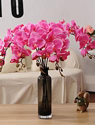 1 Ramo Flôr Seca Orquideas Flor de Mesa Flores artificiais