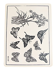 Solong Tattoo Accessories 10 X Permanent Makeup Tattoo Practice Skins Supply Butterfly Pattern TA501-9