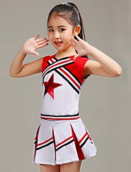 Girls' Going out Casual/Daily Sports Suit Striped Patchwork Sets Cotton Summer Sleeveless 2 Piece Cheerleader Clothing Set