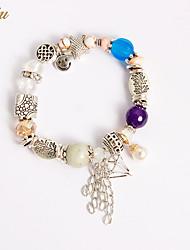 Women's Girls´ Chain Bracelet Charm Bracelet Strand Bracelet Crystal Imitation Diamond Imitation Pearl RhinestoneNatural Friendship