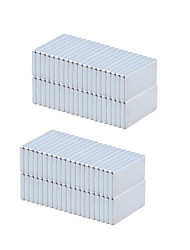 20 x 10 x 2mm Strong Rectangle NdFeB Magnets - Silver (100 PCS)