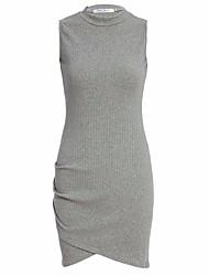 Aliexpress новых женщин в Европе и Америке&С внешней торговли с длинными рукавами с длинными рукавами платье асимметричные