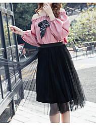 2017 costume de printemps version féminine coréenne des nouvelles femmes&# 39; style de mode en mousseline de soie robe en deux