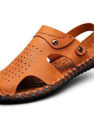 Сандалии весна лето осень комфорт наппа кожа уличный офис&Карьера участника&Вечерние коричневые ботинки
