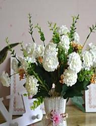 1 Ast Kunststoff Chrysanthemum Tisch-Blumen Künstliche Blumen 25*25*35