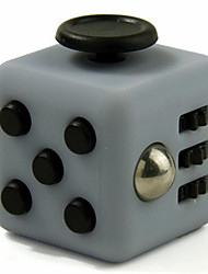 Anxiety Reliever Fidget Dice Cubic Cube Fidget Toys for Focusing / Stress Relieving ABS --Gray &  Black