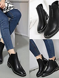 Women's Boots Comfort PU Casual Low Heel