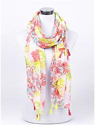 Elegant Silk Chiffon Scarf Shawl bigger flower Fashion