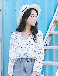 Model proxy price of not less than 55 floral chiffon shirt female Korean version of the new spring 2017