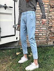 новый реальный выстрел был тонкий сыпучие отверстие джинсы штаны Корейский женские колготки Бф Кросс шаровары корейский