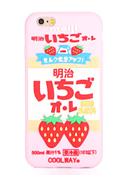 For Pattern Case Back Cover Case Strawberry Soft Silicone for Apple iPhone 7 Plus iPhone 7 iPhone 6s Plus iPhone 6 Plus iPhone 6s iPhone 6