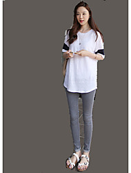 Star Yang Mi same paragraph waist jeans female feet pants Korean version was thin stretch pants tide Sign