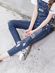 подписать новый не дан микки ремень свободно джинсовые брюки женщины