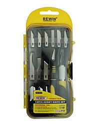 set couteau passe-temps outil Rewin de 14pcs