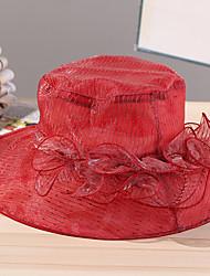 Mujer Primavera Verano Bonito Casual Malla Poliéster Sombrero para el sol,A Rayas