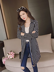 Sign spring new two wearing a striped dress temperament casual jacket