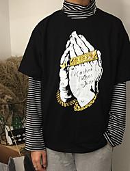 signer les hommes et les femmes t-shirt de la rue harley port de la personnalité du vent hiphop hiphop rocher