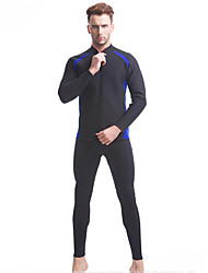 Arsuxeo Homme 3mm Combinaisons étanches Respirable Design Anatomique Perméabilité à l'humidité Néoprène Tenue de plongée Manches longues