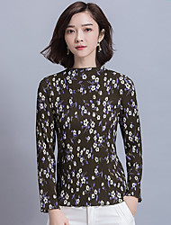 Signe un nouveau printemps 2017 chemise en mousseline de soie fine mince femme