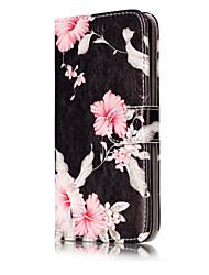Pour Portefeuille Porte Carte Avec Support Clapet Motif Coque Coque Intégrale Coque Fleur Dur Cuir PU pour HuaweiHuawei P10 Lite Huawei