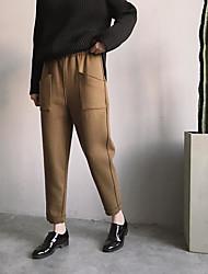 Spot ~ version coréenne coupe tridimensionnelle de la prise latérale de ceinture élastique pantalon bouffant paresseux occasionnels