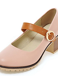 Women's Shoes Chunky Heel Round toe Buckle Pump More Color Available