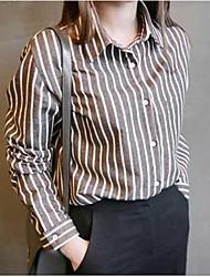 Women's Cute Shirt,Plaid Shirt Collar Long Sleeve Cotton