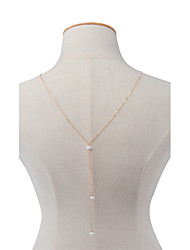 Women's Body Jewelry Body Chain Fashion Imitation Pearl Alloy Geometric Jewelry For Party Special Occasion Halloween Casual 1pc