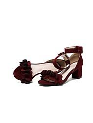 Women's Sandals Spring Summer Club Shoes Gladiator Formal Shoes Comfort Novelty Flower Girl Shoes Light Soles CashmereWedding Outdoor